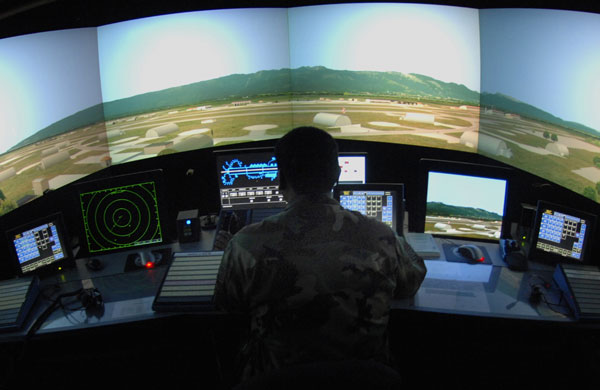 An air traffic control simulator at Aviano Air Base, Italy, is used to train air traffic controllers on specific situations unique to Aviano AB.  It can also be used to train outgoing members on their future bases' airspace scenarios.