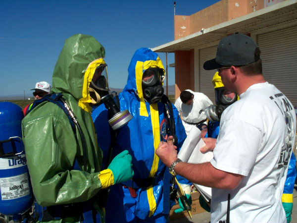 First responder training HAZMAT/WMD training exercise at the Nevada Test Site