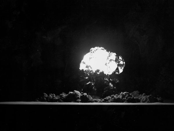 A suitcase bomb could produce a fireball the size of this one from a March 12, 1955 nuclear experiment in Nevada.  An explosion of this size could kill tens of thousands if it occurred in a large city.