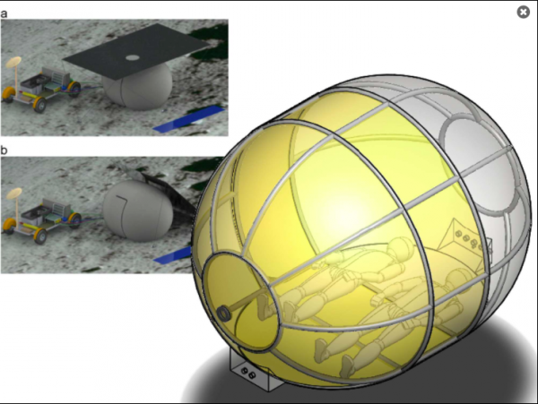 Inflatable Habitats Tent Will Allow Astronauts to Camp On The Moon