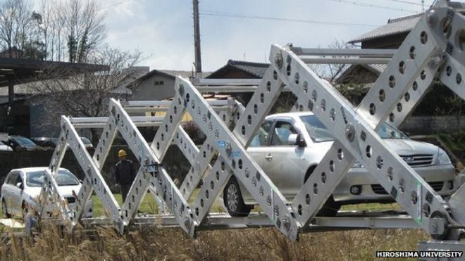 Engineers create emergency origami bridge